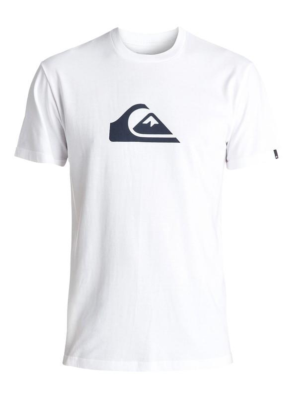 0 Mountain Wave Logo Tee White AQYZT04553 Quiksilver
