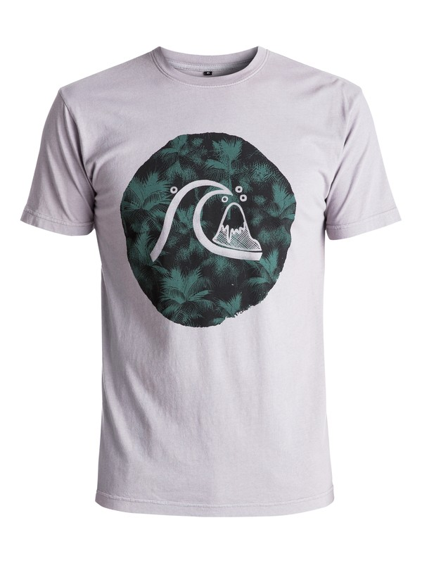 0 Palm Bubble Tee Grey AQYZT04609 Quiksilver