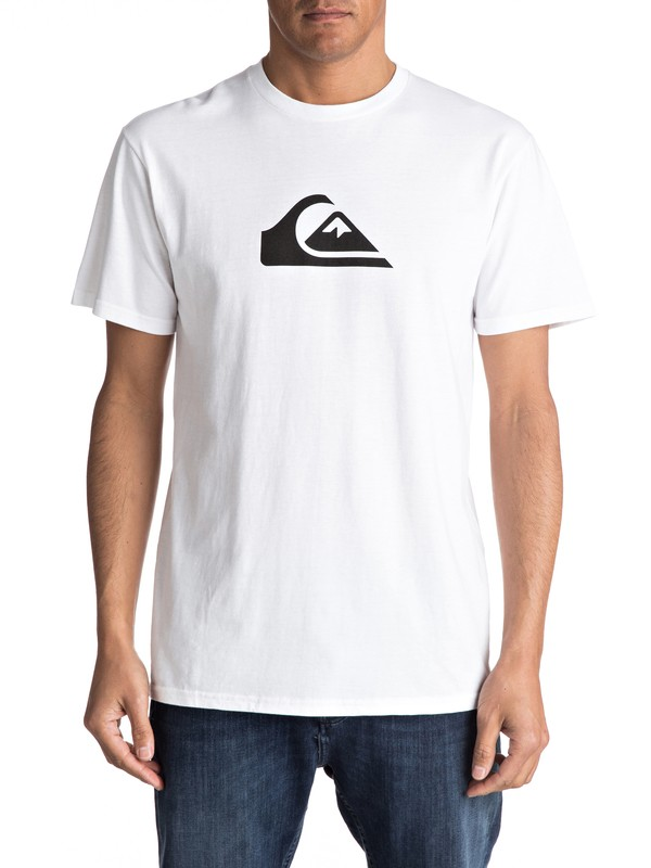 0 Mountain Wave Classic Tee White AQYZT04731 Quiksilver