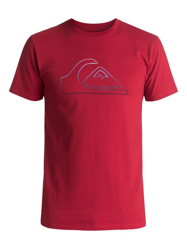 0 Jungle Mountain Tee Red AQYZT04736 Quiksilver
