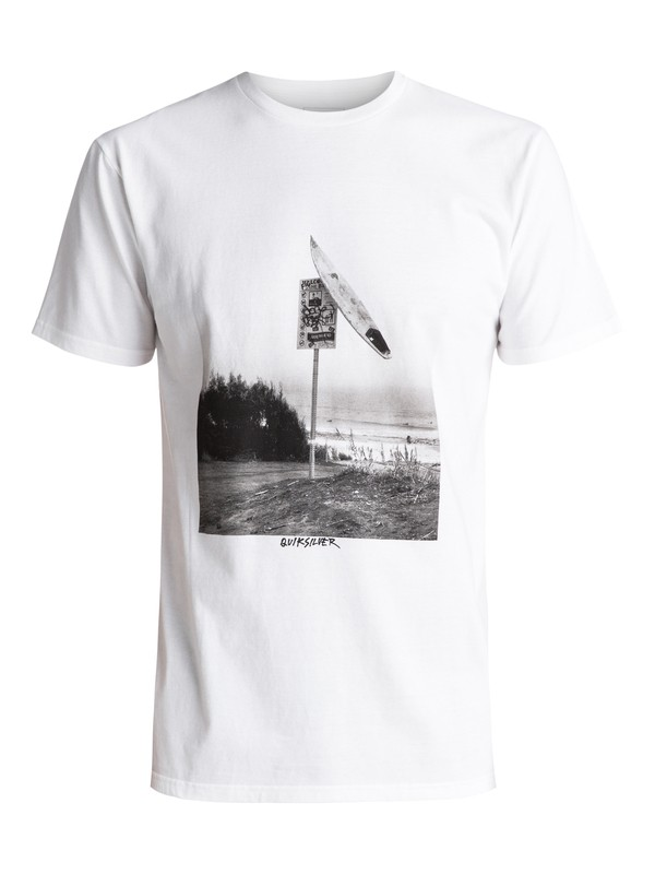 0 Smashed Tee White AQYZT04752 Quiksilver
