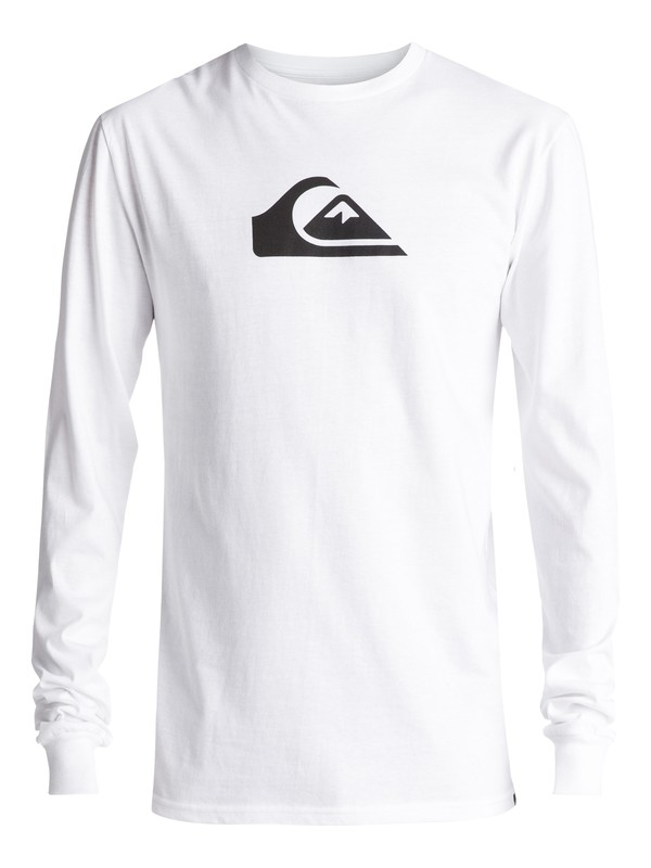 0 Mountain And Wave Long Sleeve Tee White AQYZT04772 Quiksilver