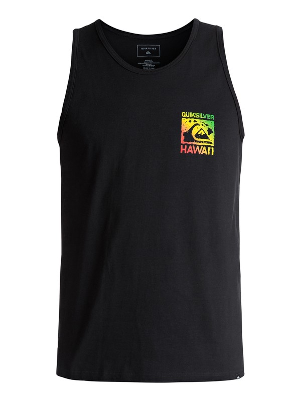 0 Island Mountain Wave Tank Black AQYZT04824 Quiksilver