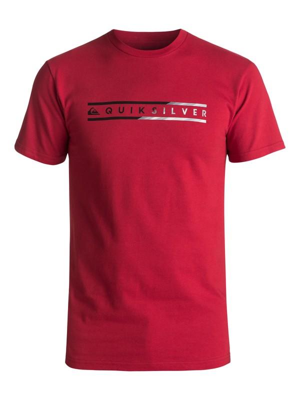 0 Men's Skinny Script Tee Red AQYZT04980 Quiksilver