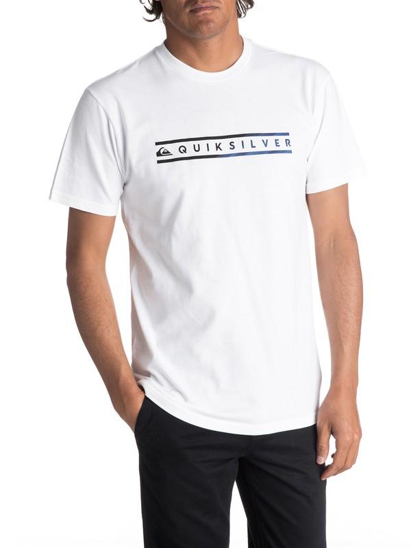 0 Men's Skinny Script Tee White AQYZT04980 Quiksilver