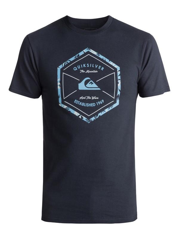 0 Men's Octa Logo Tee Blue AQYZT04982 Quiksilver