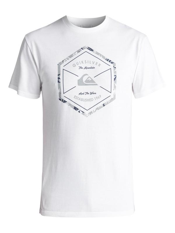 0 Men's Octa Logo Tee White AQYZT04982 Quiksilver