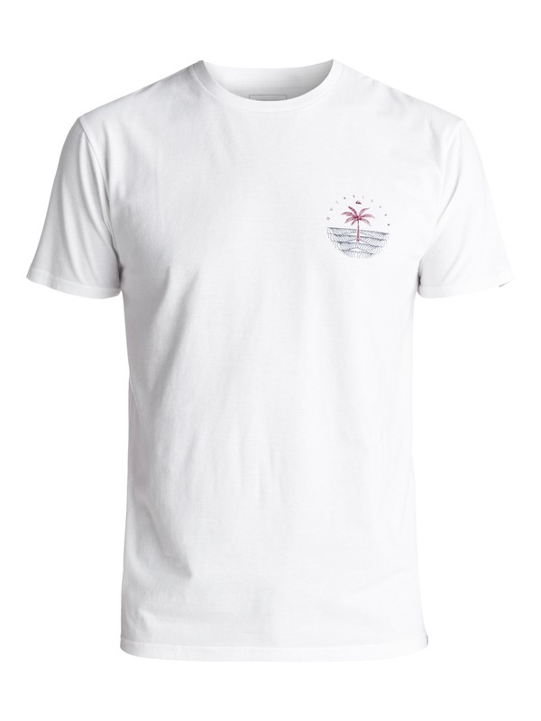 0 Men's Single Palm Tee White AQYZT04995 Quiksilver