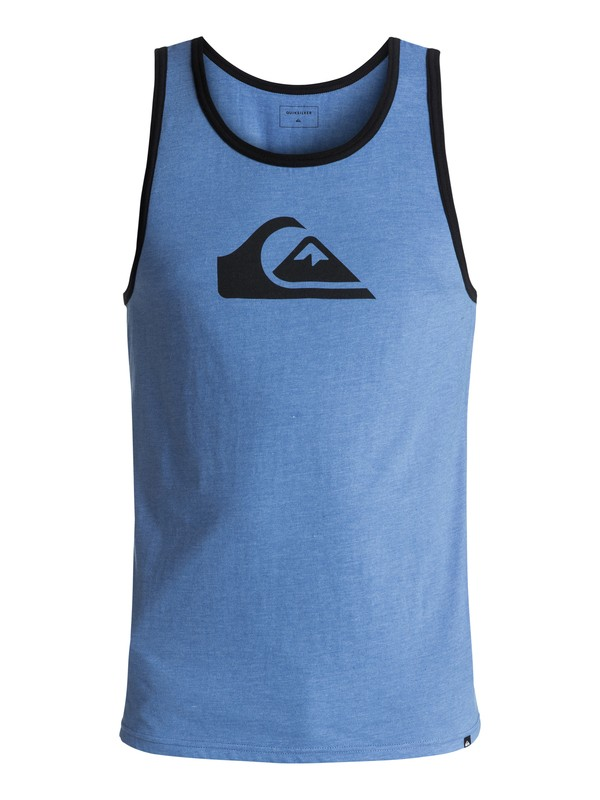 0 Men's Logo Singlet Blue AQYZT05003 Quiksilver