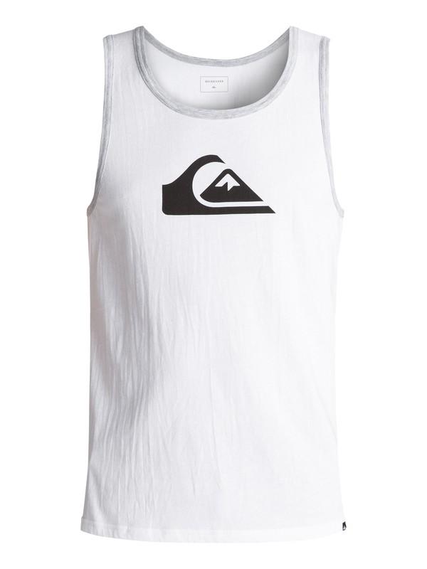 0 Men's Logo Singlet White AQYZT05003 Quiksilver