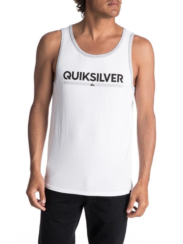 0 Men's Tough Luck Singlet White AQYZT05004 Quiksilver