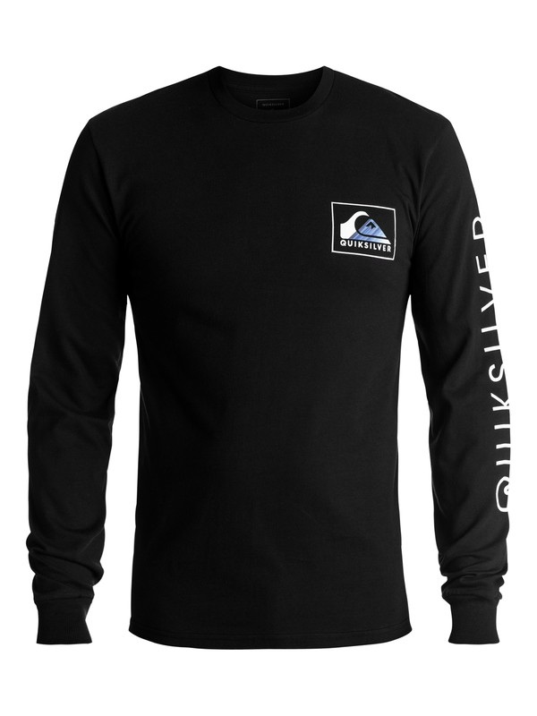 0 Men's Hold Down Long Sleeve Tee Black AQYZT05020 Quiksilver