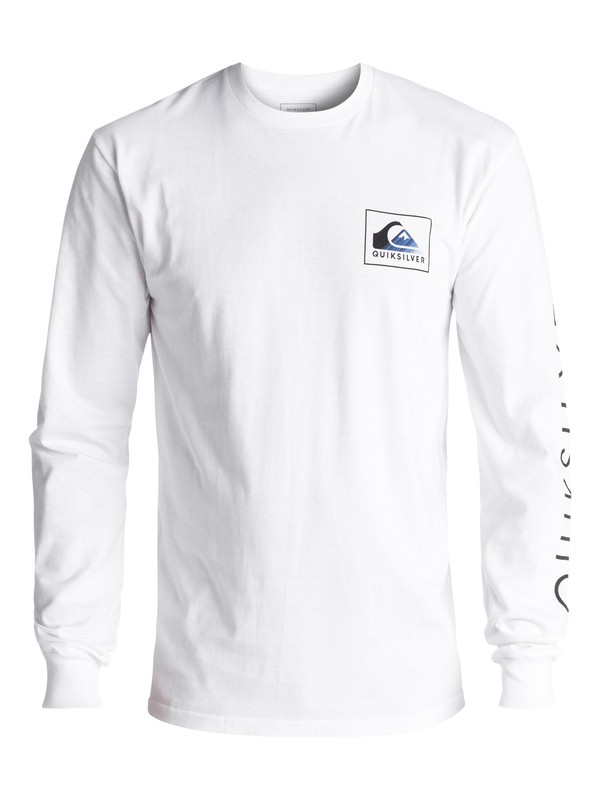 0 Men's Hold Down Long Sleeve Tee White AQYZT05020 Quiksilver