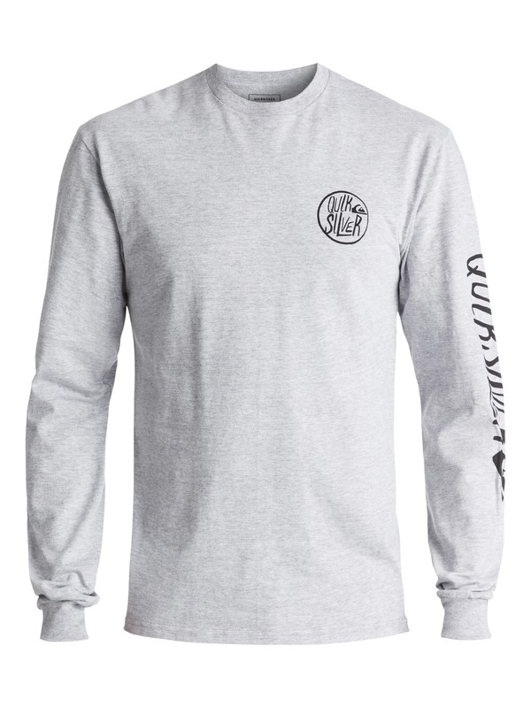 0 Men's Kool Shapes Long Sleeve Tee Grey AQYZT05021 Quiksilver