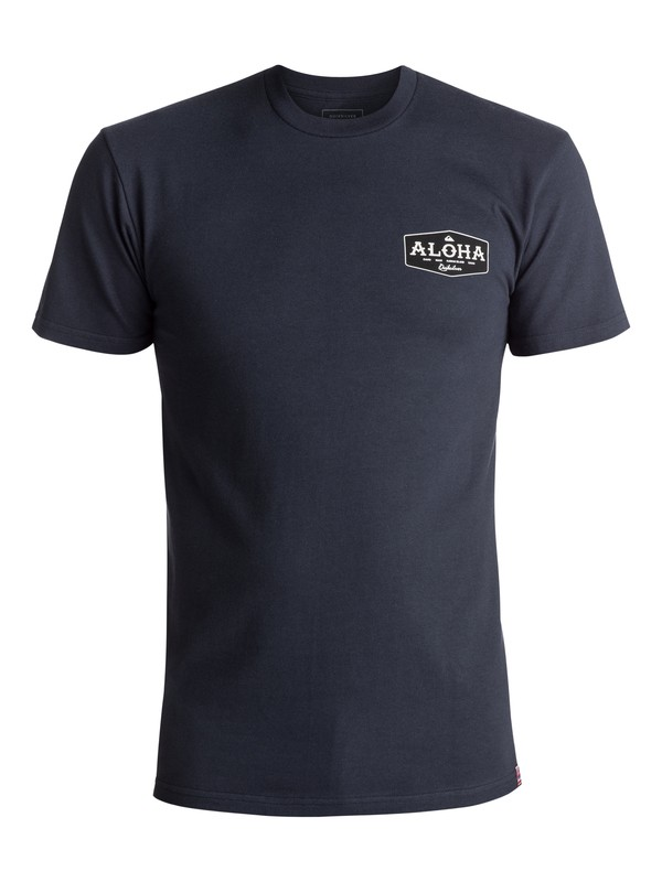 0 Men's Aloha Bound Tee Blue AQYZT05053 Quiksilver