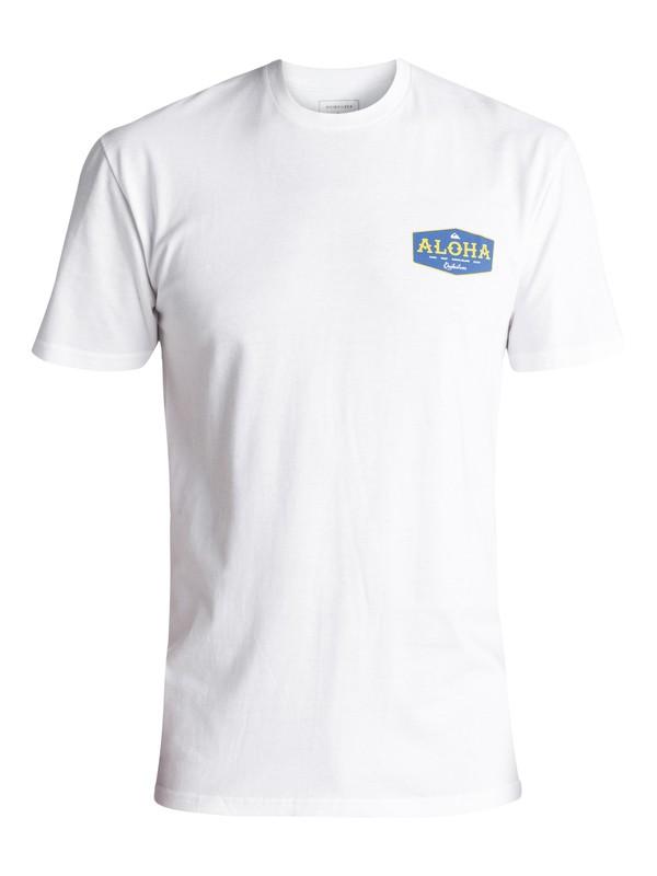 0 Men's Aloha Bound Tee White AQYZT05053 Quiksilver