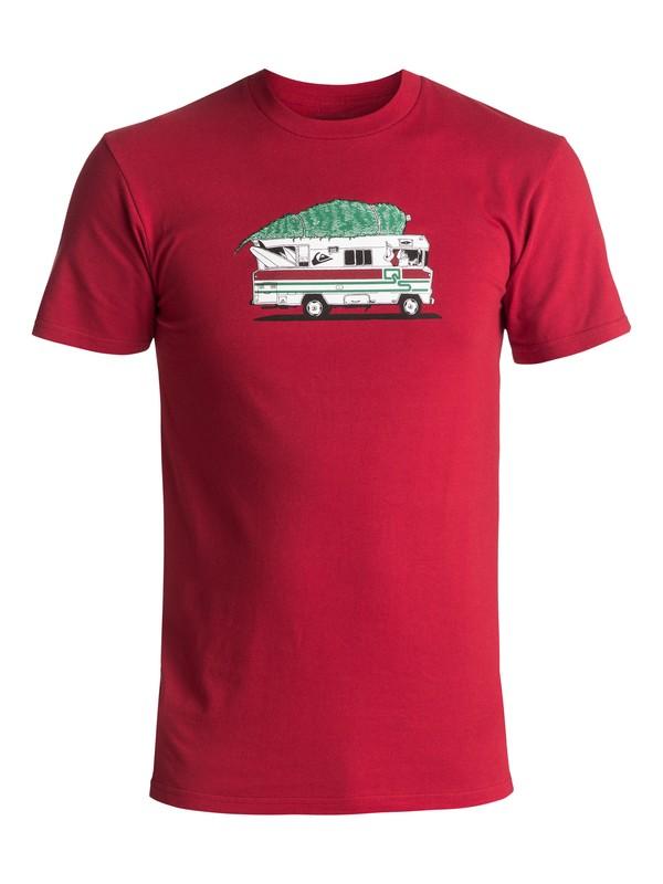 0 Men's Santa Camper Tee Red AQYZT05092 Quiksilver
