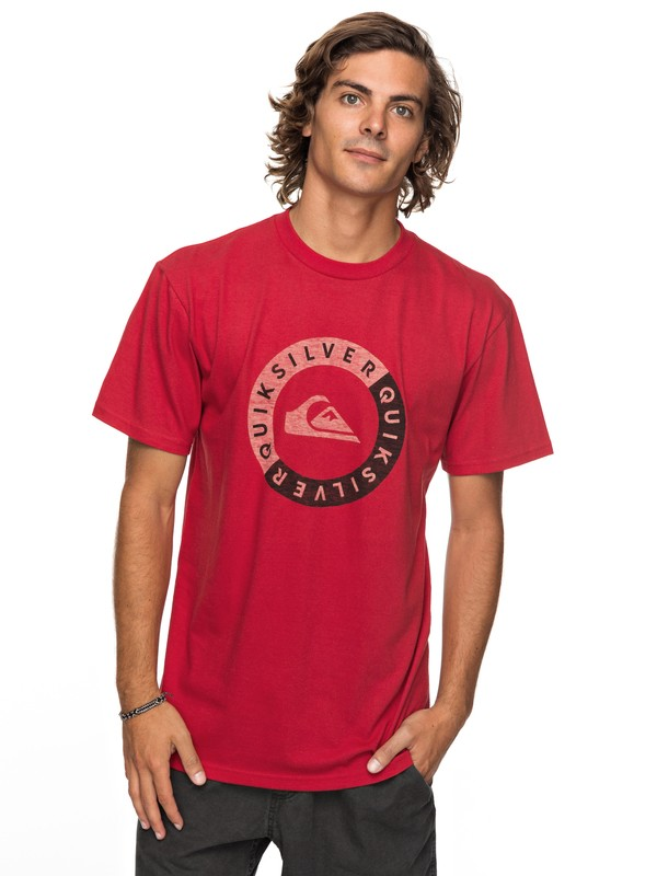 0 Shores Away Tee Red AQYZT05123 Quiksilver