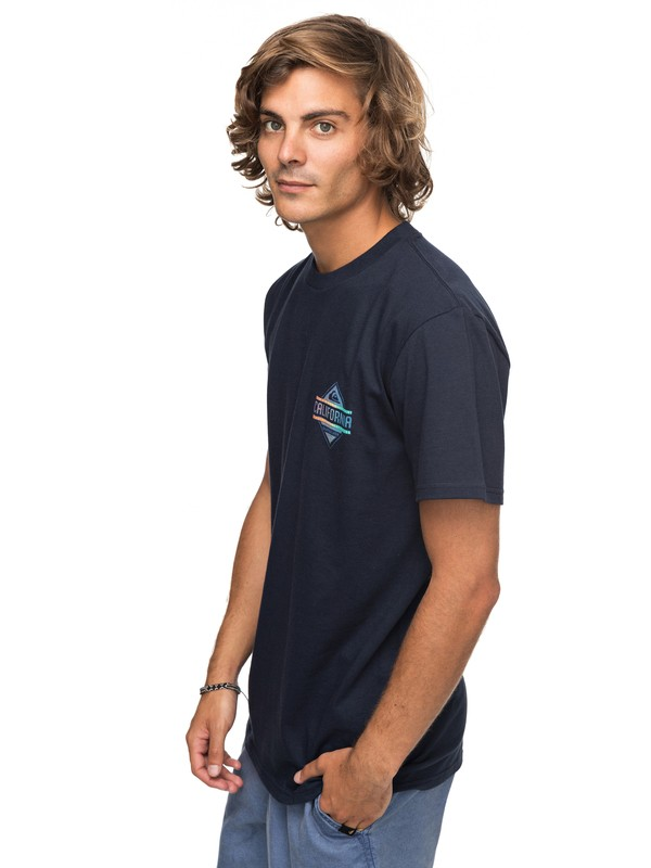 0 California Gold Tee Blue AQYZT05140 Quiksilver