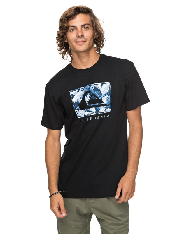 0 City Pacific Tee Black AQYZT05142 Quiksilver