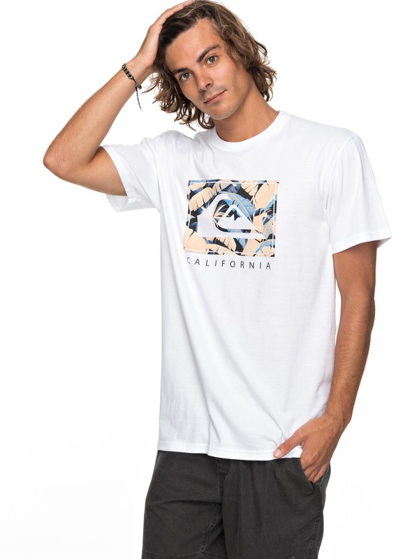 0 City Pacific Tee White AQYZT05142 Quiksilver