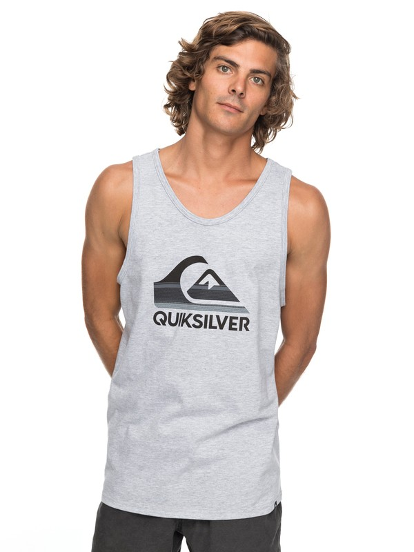 0 Waves Ahead Tee Grey AQYZT05158 Quiksilver