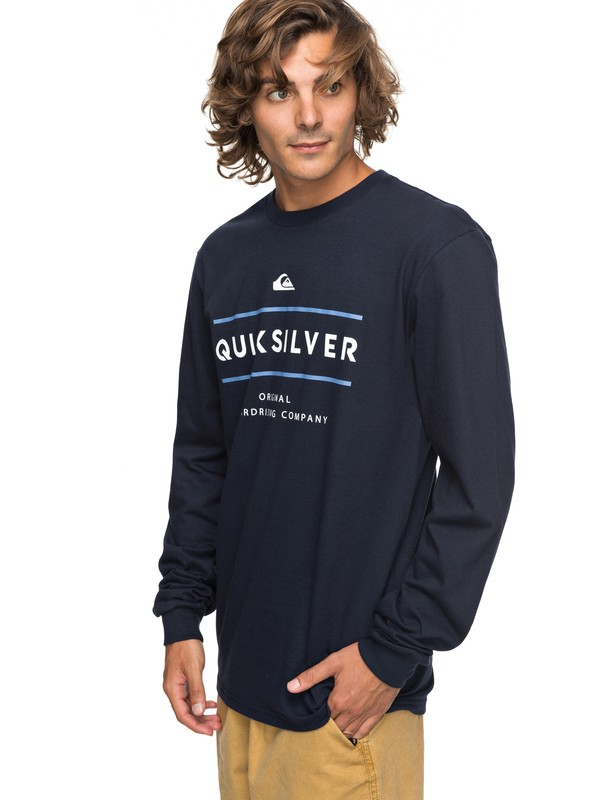 0 Reverso Surfo Long Sleeve Tee Blue AQYZT05165 Quiksilver