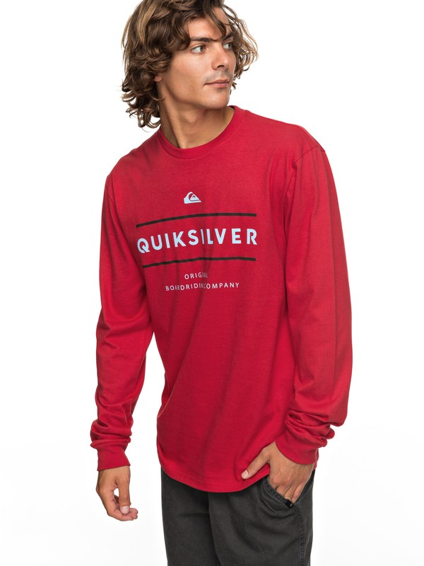 0 Reverso Surfo Long Sleeve Tee Red AQYZT05165 Quiksilver