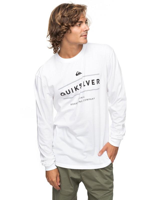 0 Reverso Surfo Long Sleeve Tee White AQYZT05165 Quiksilver