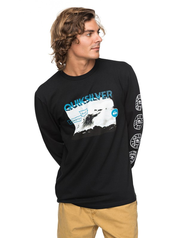 0 Next Steps Long Sleeve Tee Black AQYZT05167 Quiksilver