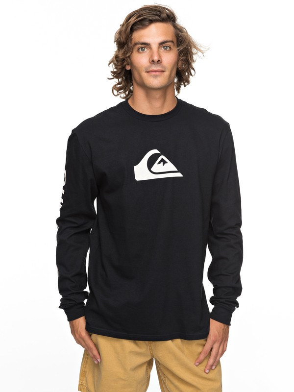 0 Logo Long Sleeve Tee Black AQYZT05217 Quiksilver