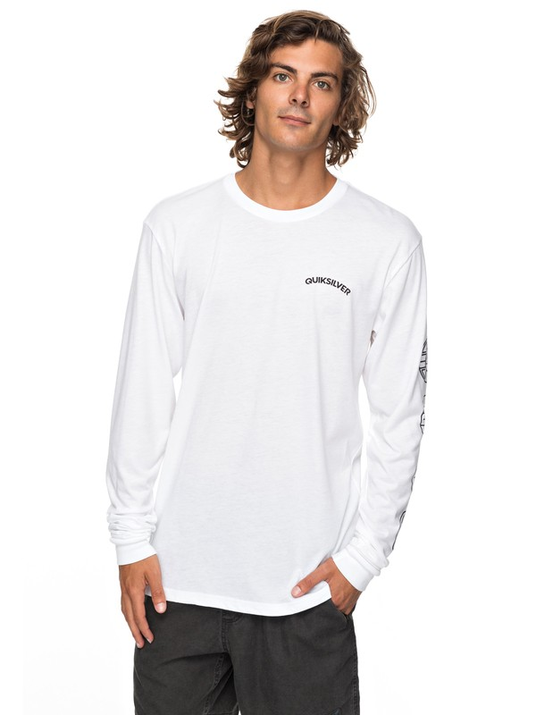 0 Next Steps Technical Long Sleeve Tee White AQYZT05232 Quiksilver