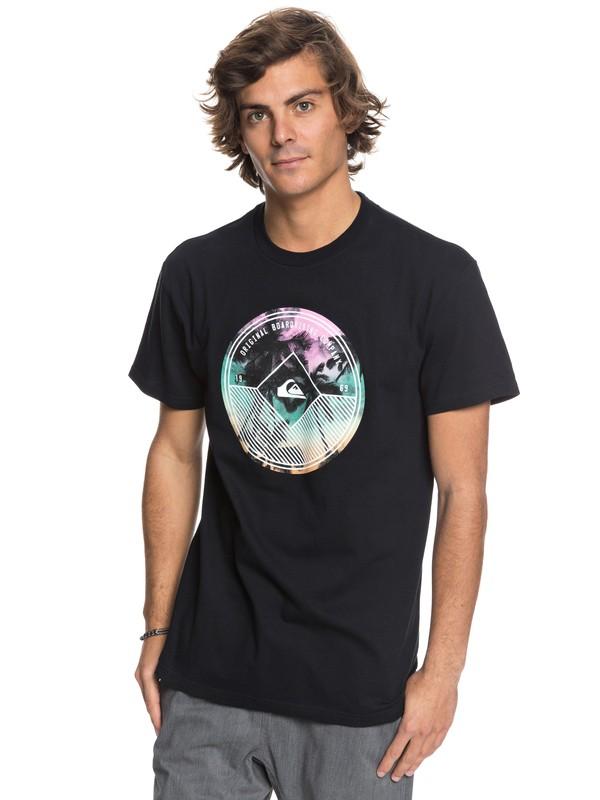 0 Gradient Palm - T-Shirt Black AQYZT05413 Quiksilver