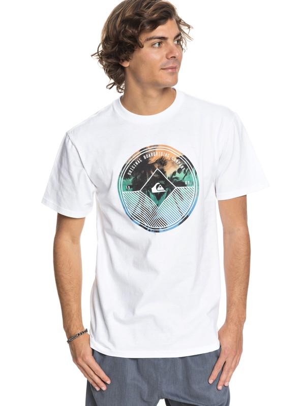 0 Gradient Palm - T-Shirt White AQYZT05413 Quiksilver