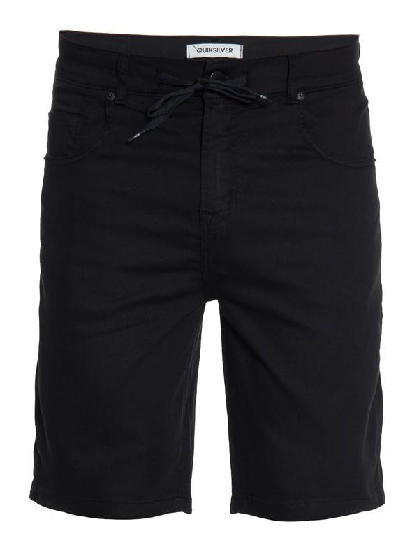 0 Bermuda Masculina Jeans  Straight com Bolso Traseiro Quiksilver  BR60021535 Quiksilver