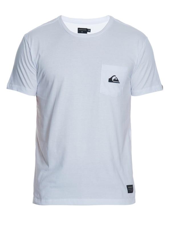 0 Camiseta Masculina Manga Curta Slim Fit Estampada com Bolso Quiksilver.  BR61142753 Quiksilver