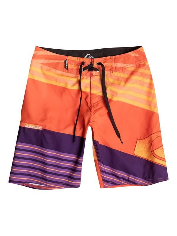 "0 Incline Logo 17"" - Boardshort Orange EQBBS03058 Quiksilver"