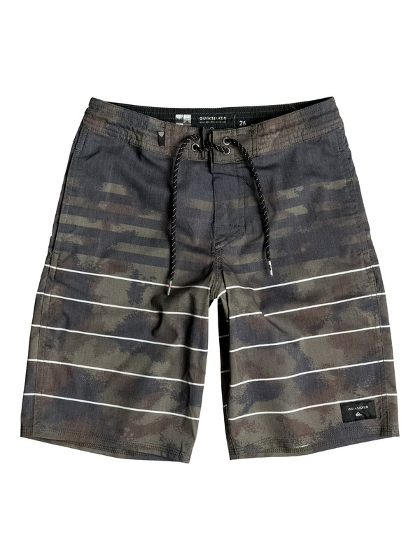 "0 Boy's 8-16 Swell Vision 18"" Boardshorts  EQBBS03102 Quiksilver"