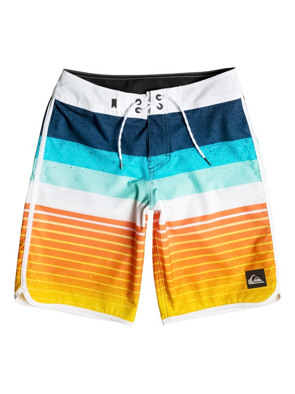 "0 Boy's 8-16 Caliber Scallop 18"" Boardshorts  EQBBS03103 Quiksilver"