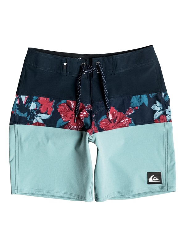 "0 Panel Blocked Vee 16"" - Boardshort Bleu EQBBS03128 Quiksilver"