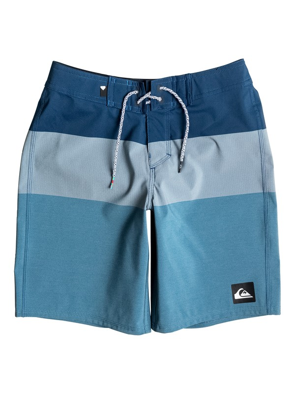 "0 Boy's 8-16 Highline Blocked Vee 17"" Boardshorts  EQBBS03129 Quiksilver"