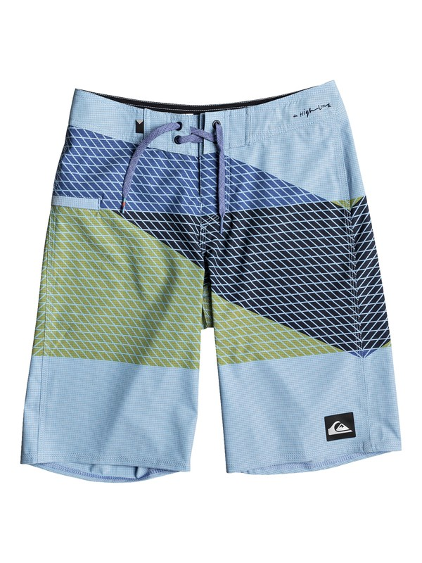 "0 Boys 8 -16 Highline Slash 19"" Boardshorts Blue EQBBS03229 Quiksilver"