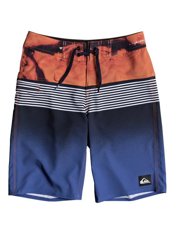 "0 Boys 8-16 Highline Lava Division 19"" - Boardshorts Blue EQBBS03232 Quiksilver"