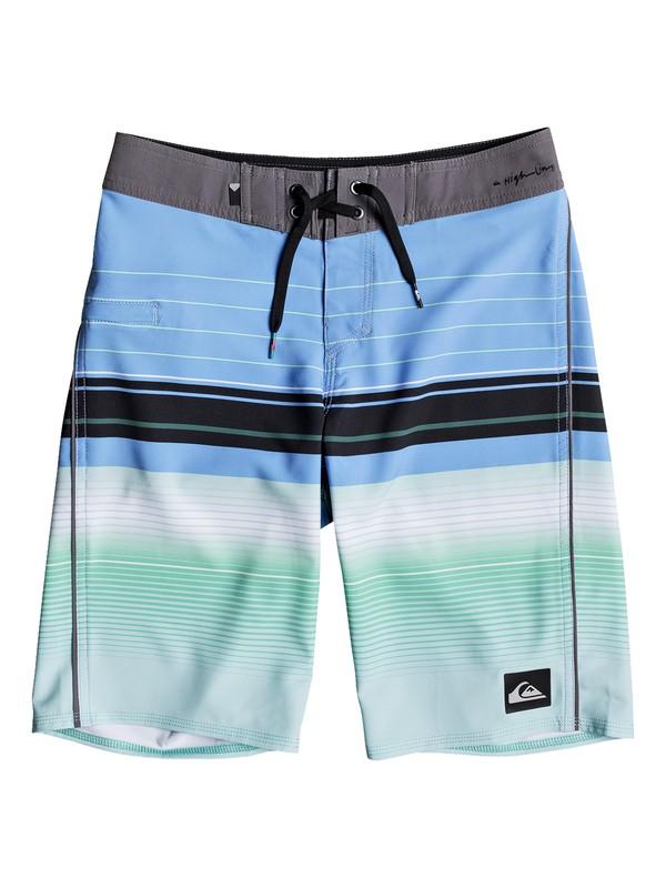 "0 Boys 8 -16 Highlinesion 19"" Boardshorts Blue EQBBS03237 Quiksilver"