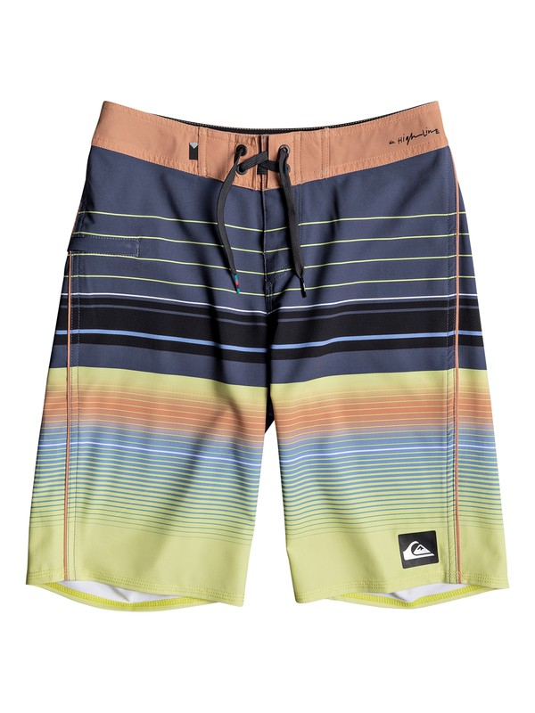 "0 Boys 8 -16 Highlinesion 19"" Boardshorts Blue EQBBS03237 Quiksilver"