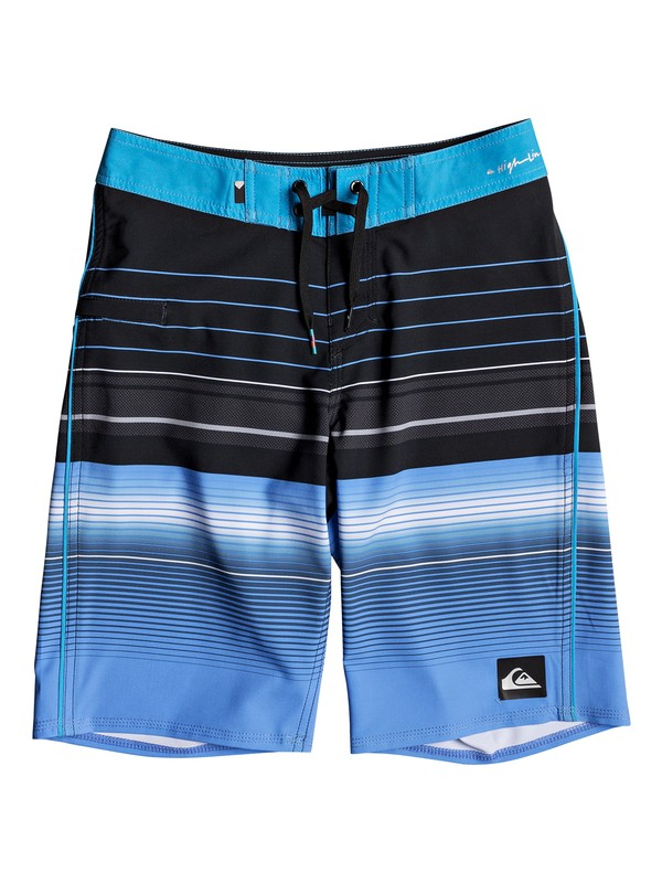"0 Boys 8 -16 Highlinesion 19"" Boardshorts Black EQBBS03237 Quiksilver"