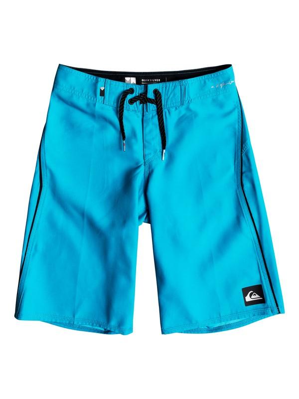 "0 Boys 8 -16 Highline Kaimana 19"" Boardshorts Blue EQBBS03242 Quiksilver"