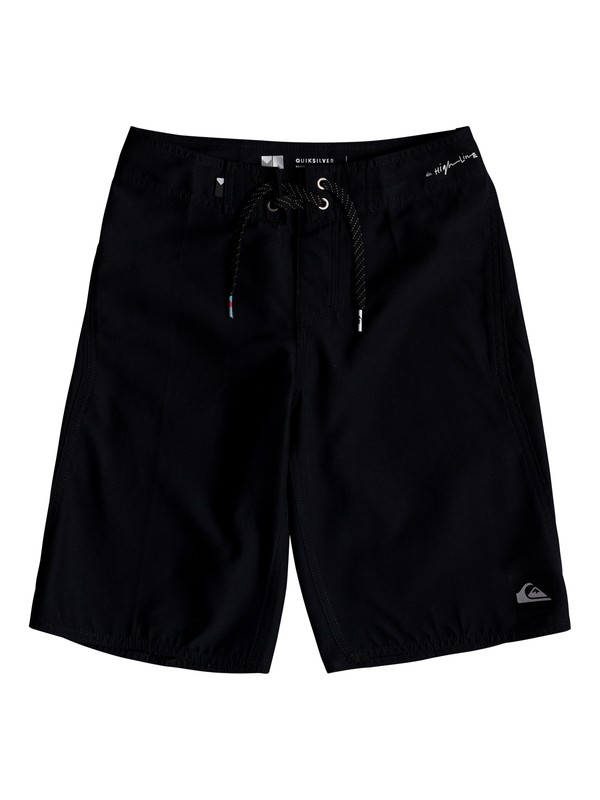 "0 Boys 8 -16 Highline Kaimana 19"" Boardshorts Black EQBBS03242 Quiksilver"