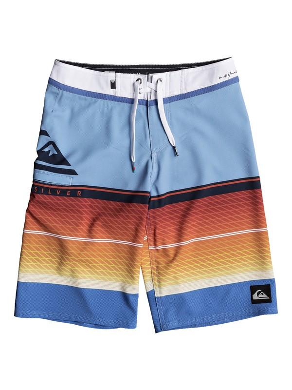 "0 Boys 8-16 Highline Slab 19"" - Boardshorts Blue EQBBS03244 Quiksilver"