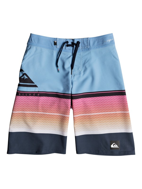 "0 Boys 8-16 Highline Slab 19"" - Boardshorts Blue EQBBS03244 Quiksilver"